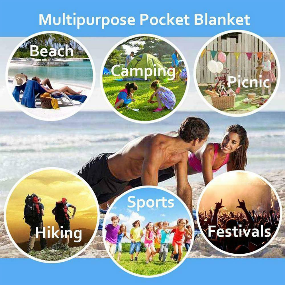210*150cm Camping Carpet Picnic Mat Lawn Floor Pad Folding Travel Rugs Beach Mattress Tent Cloth Shade Canopy Sandless Backing