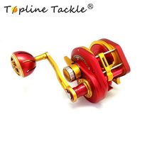 Topline Tackle 2018 slow jigging reel boat 50kg right handle Saltwater Trolling Drum Reels sea Fishing