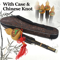 Traditional Chinese Hulusi Bamboo Flute Cucurbit Ethnic Handmade Professional Musical Instrument Gourd Flauta C&Bb With Case