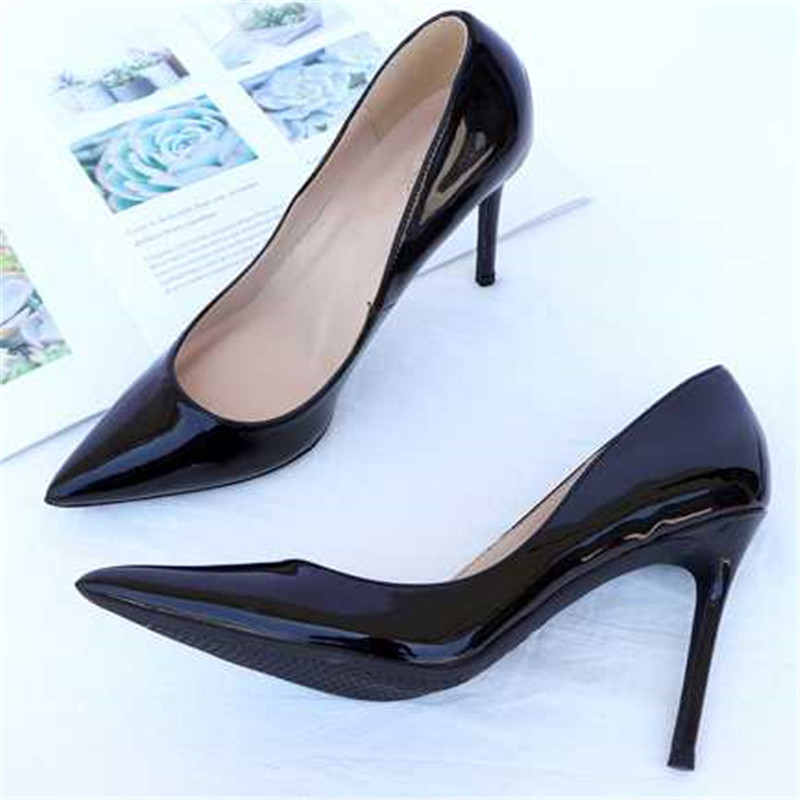 2019 new ayemiland fashion stiletto heel pointed toes Pure color  shallow mouth high-heeled shoes woman Single shoes