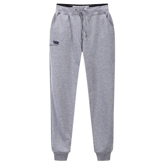 2017 Nuevos Hombres Pantalones Casuales Pantalones Deportivos de Alta Calidad de Los Hombres Chándal Cómodo Sólido de Lana de Algodón Pantalones