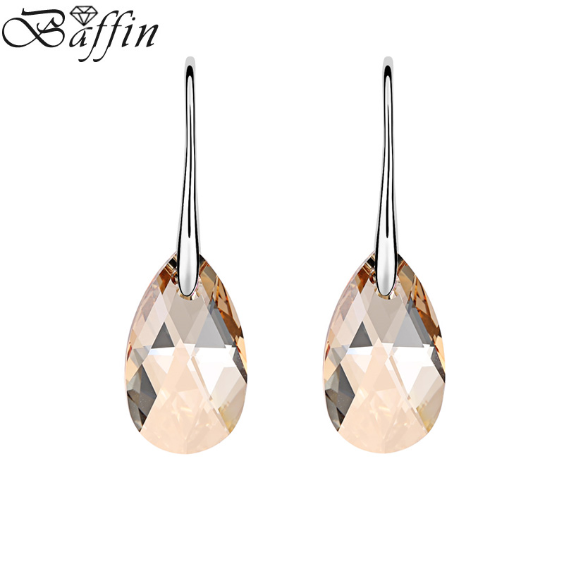 Original Crystal From SWAROVSKI Classic Drop Earrings Rhinestone Hanging Pendientes Jewelry For Women Mother's Day Gift square rhinestone floral drop earrings