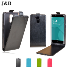 Case Cover For DOOGEE Y6 Flip Phone Case For DOOGEE Y6 (5.5 inch)Leather Bags Vertical Protective Luxury Case J&R