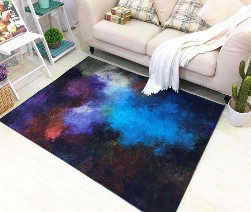 Nouveau abstrait 6mm salon canapé Foyer maison tapis chambre en peluche tapis maison tapis