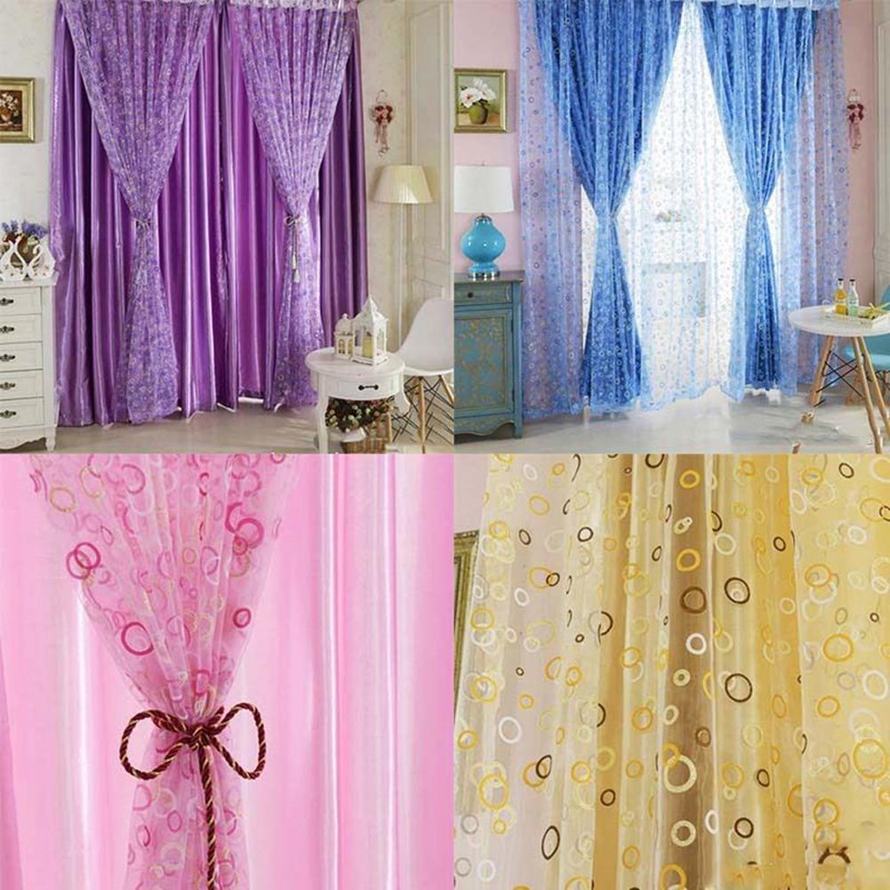 Bedroom Door Curtain Bedroom Wall Decoration Ideas Pinterest Bedroom Paint Colors Images Bedroom Design Kerala Style: 1 Pc Voile Curtain Bedroom Window Door Curtains Divider