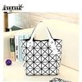 2017 Fashion Women Geometry Quilted Handbag Pearl Bag Diamond Lattice Geometric hologram Handbags Tote Sling Bolsa Shoulder Bag