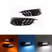 Car DRL LED Daytime Running Lights KIT For Honda Civic 10th 2016 2017 With 3 Color