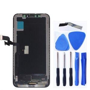 Image 2 - شاشة LCD جديدة لهاتف iPhone X XS XR مرنة متينة OLED LCD لهاتف iPhone X XS GX AMOLED شاشة ناعمة مع عدة إصلاح تعمل باللمس ثلاثية الأبعاد