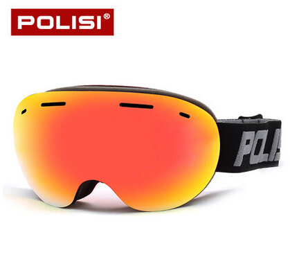 POLISI Men Women Snow Skiing Sun Glasses Eyewear Professional Ski Goggles Outdoor Climbing Snow Mirror aoron classic polarized sunglasses men brand designer hd goggle men s integrated eyewear sun glasses uv400 2017 new ao 12