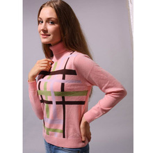 Cashmere Sweater Women Turtleneck Pink Pullover Natural Fabric Soft Warm High Quality Clearance Sale Free Shipping