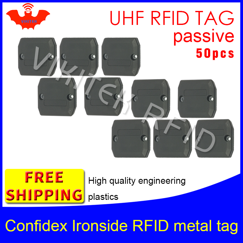 UHF RFID anti-metal tag confidex ironside 915m 868m Impinj Monza4QT 50pcs free shipping durable ABS smart passive RFID tags virginia ironside nein ich will keinen seniorenteller