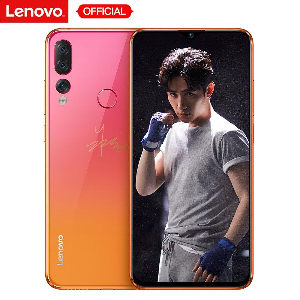 Lenovo Z5s Face ID 6 GB 128 GB Triplo Câmera Traseira Tela Snapdragon 710 OctaCore Telemóvel Notch 6.3 polegada android P Smartphones