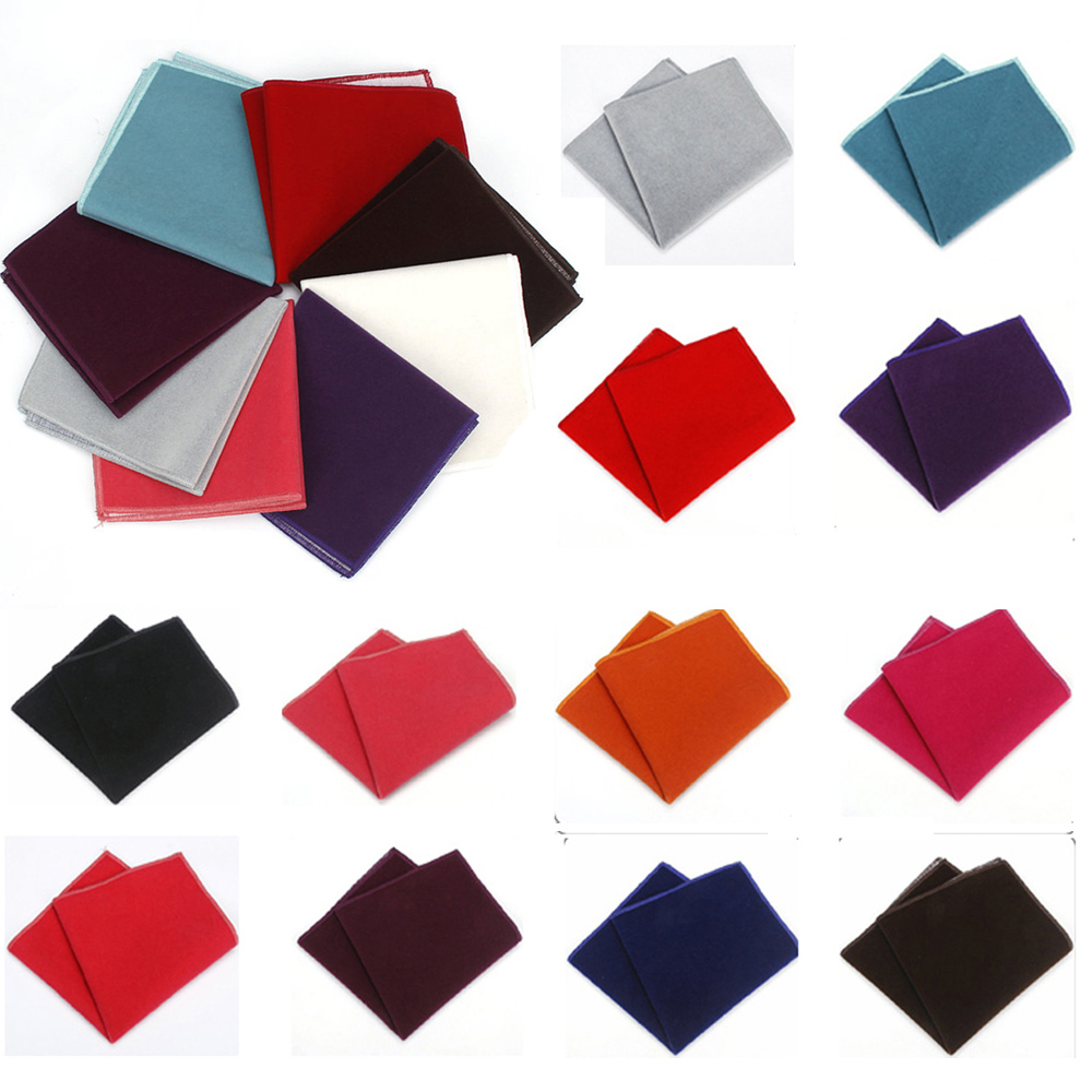 Men's Solid Color Pocket Square Wedding Party Formal Business Handkerchief Hanky YFTIE0248