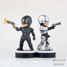Movie Figure 18 CM RoboCop Murphy Q Version PVC Action Figure Collectible Model Toy with LED Light
