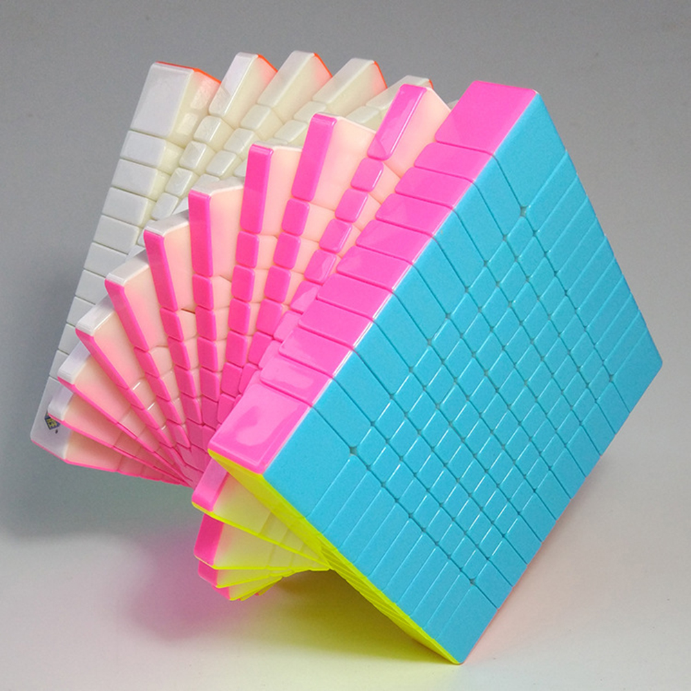 Arc-en-ciel coloré 11*11*11 Cube compétition Cube magique Puzzle jouets pour enfants