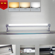 Modern Stainless Steel LED Bathroom Front Mirror Lights Wall Mounted Up And Down Luminescence Adjustable Light