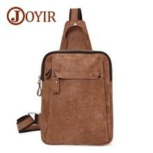 JOYIR Genuine Leather Crossbody Bags for Men Travel Messenger Sling Chest Bag Pack Casual Bag Men Single Shoulder Bag недорго, оригинальная цена