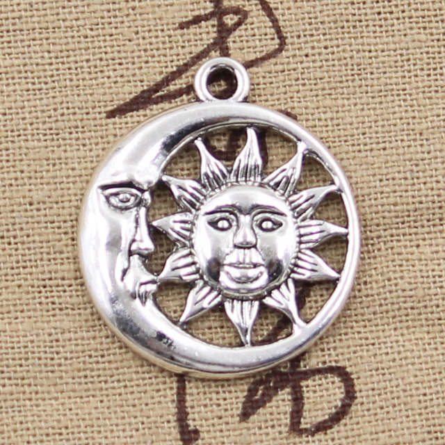 8pcs charms sun moon 26mm antique silver plated pendants making 8pcs charms sun moon 26mm antique silver plated pendants making diy handmade tibetan silver jewelry mozeypictures Gallery