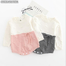 Knitted Baby Rompers Autumn Winter Baby