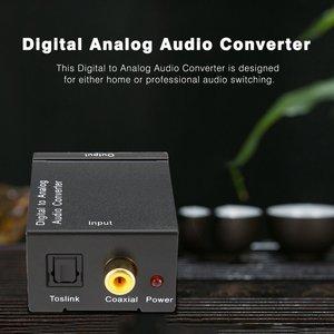 Image 2 - TV Audio Converter Digital To Analog Converter Digital Optical Coaxial RCA Toslink Signal to Analog Audio Converter Home Theater