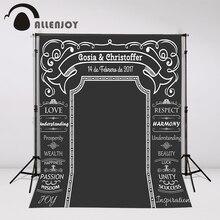 Allenjoy Giz Arco pano de fundo Fundo Do Casamento de DIY Idéia incrível quadro Personalizado nome data photocall Excluindo O suporte