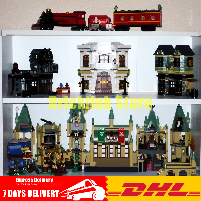 2018 DHL Lepin Movie Series 16012 16029 16030 16031 Building Blocks Bricks Model Toys For Children Birthday Gifts lepin 16030 1340pcs movie series hogwarts city model building blocks bricks toys for children pirate caribbean gift