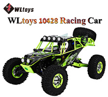 HOT WLtoys 10428 RC Car 2.4G 1:10 Scale Double Speed Remote Radio Control Electric Wild Track Warrior Car RC Monster Truck Toys