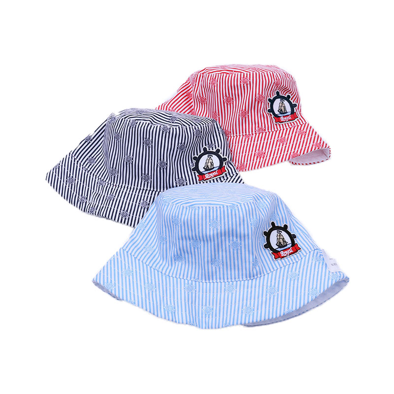 1b7655b0e05 Anchor Print Summer Infant Newborn Sun Hat for Baby Boys Girls Bucket Hat  Beach Hat Strip-in Hats   Caps from Mother   Kids on Aliexpress.com