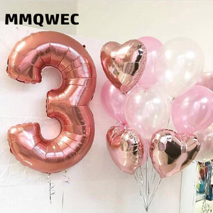 Image 4 - 1PCS 40inch gold silver number foil balloons 0 1 2 3 digit helium baloon my 1st 30th birthday party supplies Anniversary decor