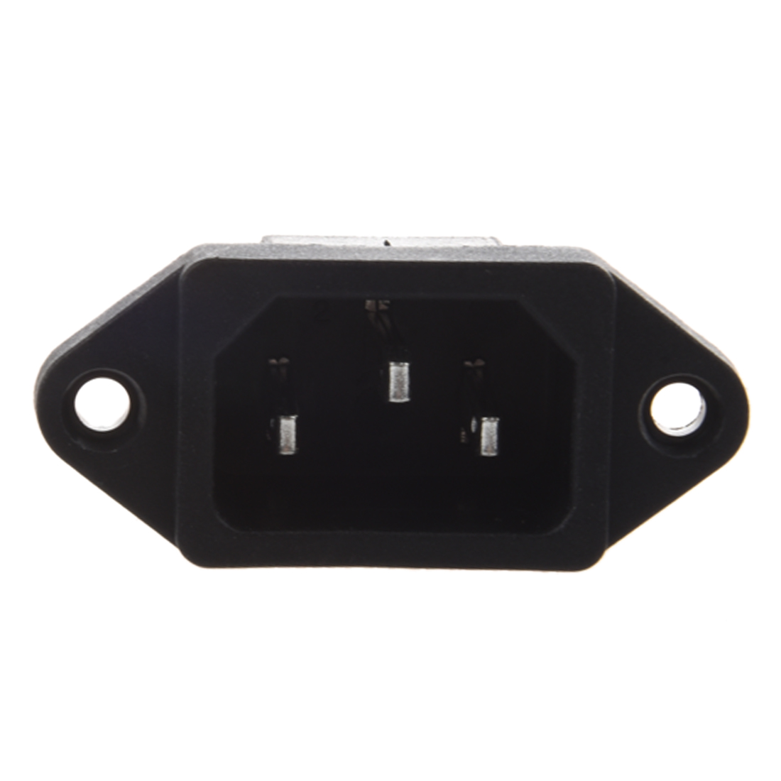 Yhys-hot IEC 2018 C14 mâle 3 broches   Panneau de Type de vis PCB, connecteur de prise dentrée de puissance 1 Pc AC 320 V 10A plastique métal