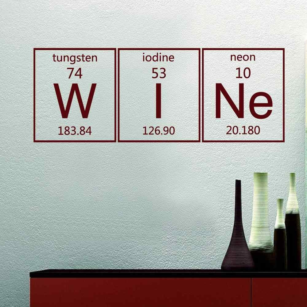 Art prints for home decor picture more detailed picture about periodic table wine elements wall sticker vinyl lettering decals dining room kitchen wall art home decor gamestrikefo Image collections