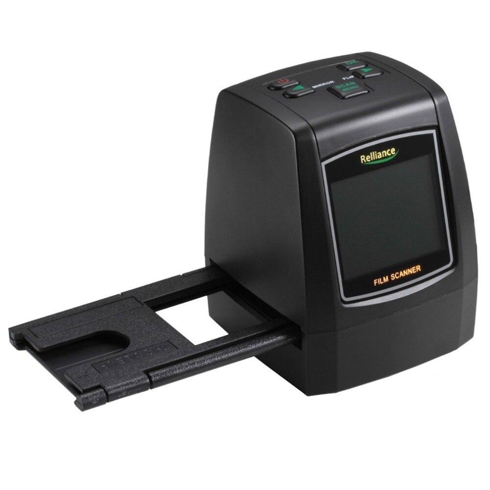 Relliance EC018 Film Scanner 135mm/126mm/110mm/8mm Haute-résolution Film Négatif glisser Scanner Convertisseur USB MSDC UE/US plug