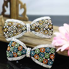 37*83mm Bowknot Bows Hair Accessory Headpiece Head Bands Headband Wedding Headdress Bridal For women Girls Hairpin Ornaments(China)