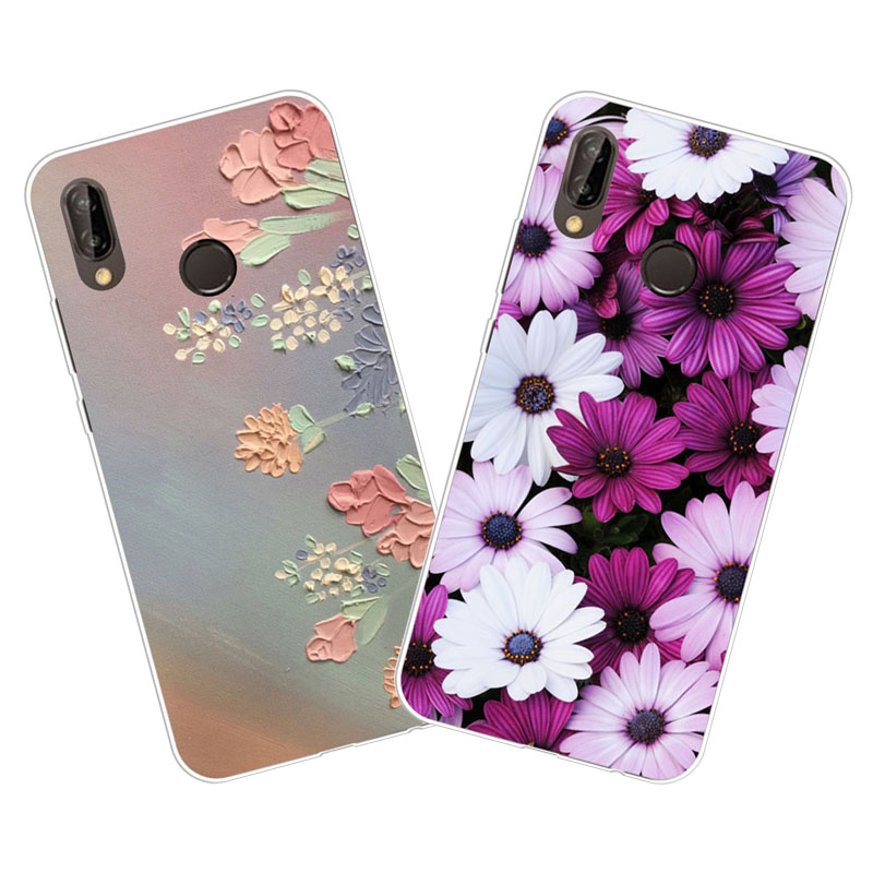 <font><b>huawei</b></font> <font><b>y9</b></font> <font><b>2019</b></font> <font><b>case</b></font>,Silicon Colorful flowers Painting Soft TPU Back <font><b>Cover</b></font> for <font><b>huawei</b></font> <font><b>Y9</b></font> <font><b>2019</b></font> Phone protect <font><b>cases</b></font> shell image