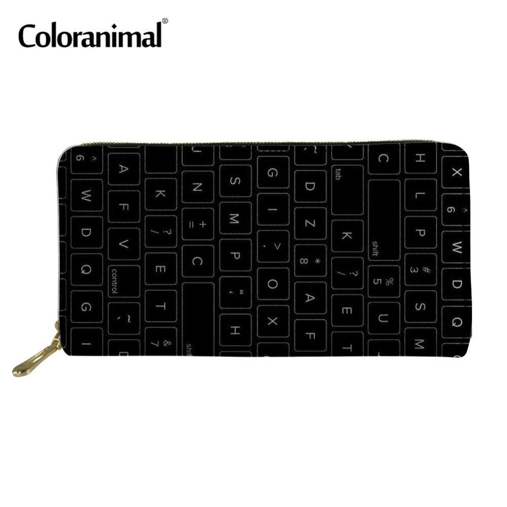 6cc2293ad08 Coloranimal Для женщин Для мужчин искусственной кожи Длинные кошельки Мода  денежных Карманный Кошелек для монет Хранение
