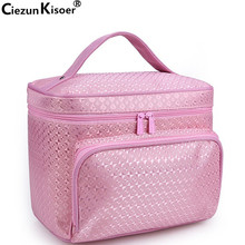 Ciezun Kisoer 2017 new washing and toileting bag can be folded and jacquard neceser mujer
