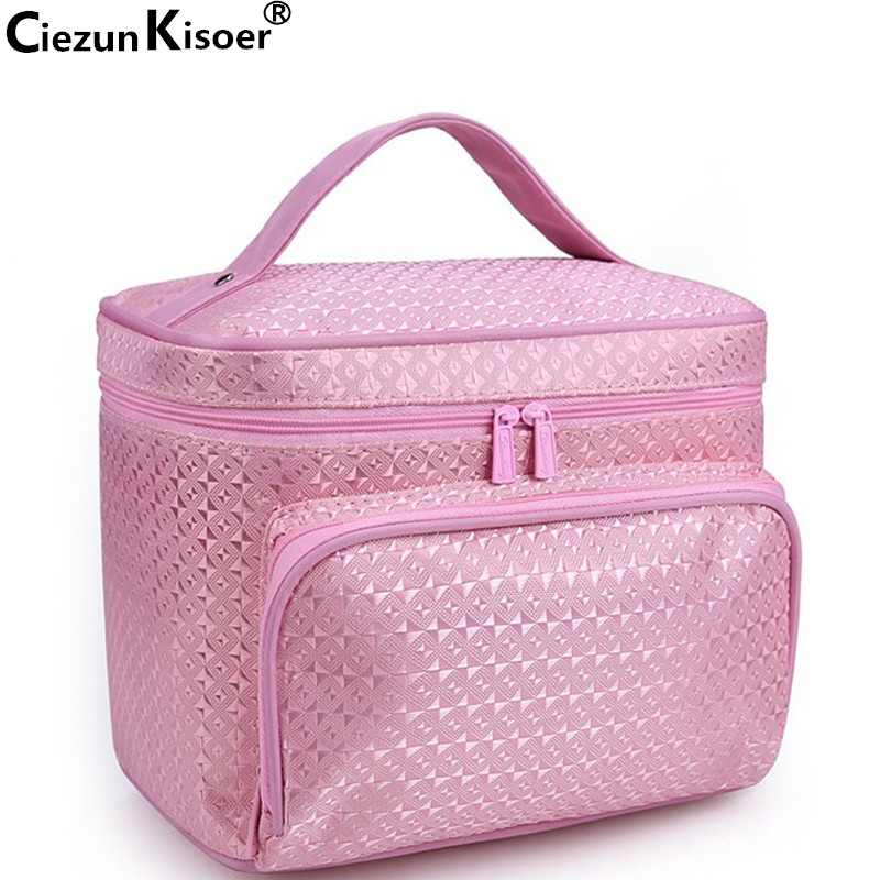 Ciezun Kisoer 2017 new washing and toileting bag can be folded and jacquard neceser font b