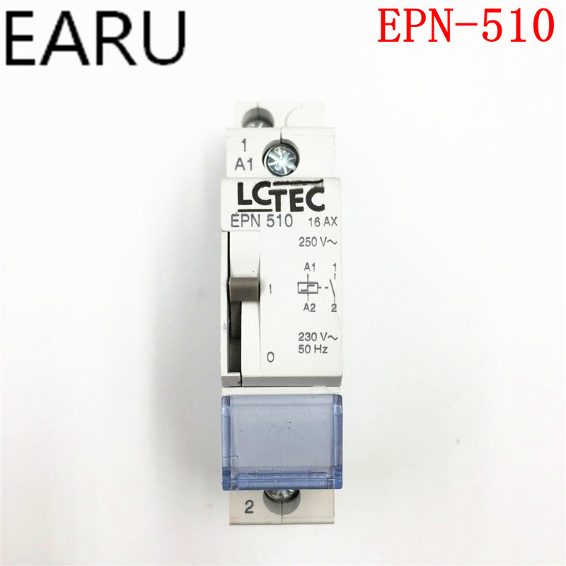 Free Shipping 1Pc High Quality EPN510 Pulse Relay Self Locking Relay 230V 1NO Signal Relay 16A Switch Din Rail