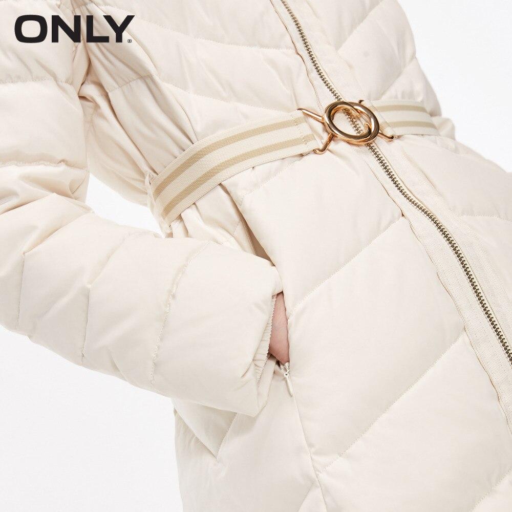 ONLY femmes fourrure de raton laveur col zippé Style moyen à capuche doudoune | 118312526 - 4