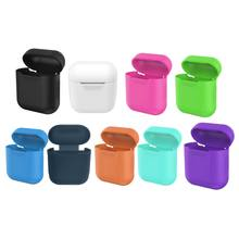 Super Thin Silicone Case for Airpods Wireless Headset Earphone Silicone Waterproof Shell Cover(China)