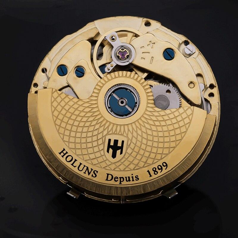 200m للماء التلقائي الميكانيكية أعلى العلامة التجارية الفاخرة الكامل للصدأ ووتش الرجال الأعمال عارضة المعصم الساعات ساعة اليد العسكرية-في الساعات الميكانيكية من ساعات اليد على  مجموعة 2