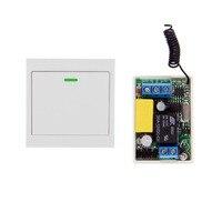 Mini Size 220V 1CH 1CH 10A Wireless Remote Control Switch Relay Receiver 86 Wall Panel Remote