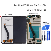 """5.7 """"สำหรับ Huawei Honor 7A Pro AUM L29 Aum L41 จอแสดงผล LCD Touch Screen Digitizer เปลี่ยนอุปกรณ์เสริมกรอบอะไหล่ซ่อม"""