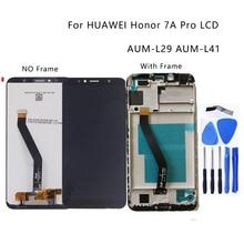 """5.7 """"para huawei honor 7a pro AUM L29 Aum L41 display lcd de toque digitador da tela substituição acessórios com quadro peças reparo"""