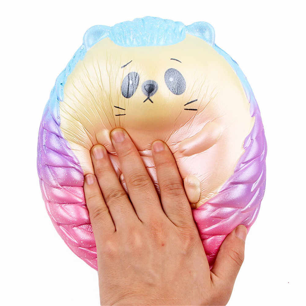 Kawaii grande ouriço para squishying lento subindo brinquedo 20 cm macio dos desenhos animados squishies anti estresse brinquedo para crianças coleção presente decoração