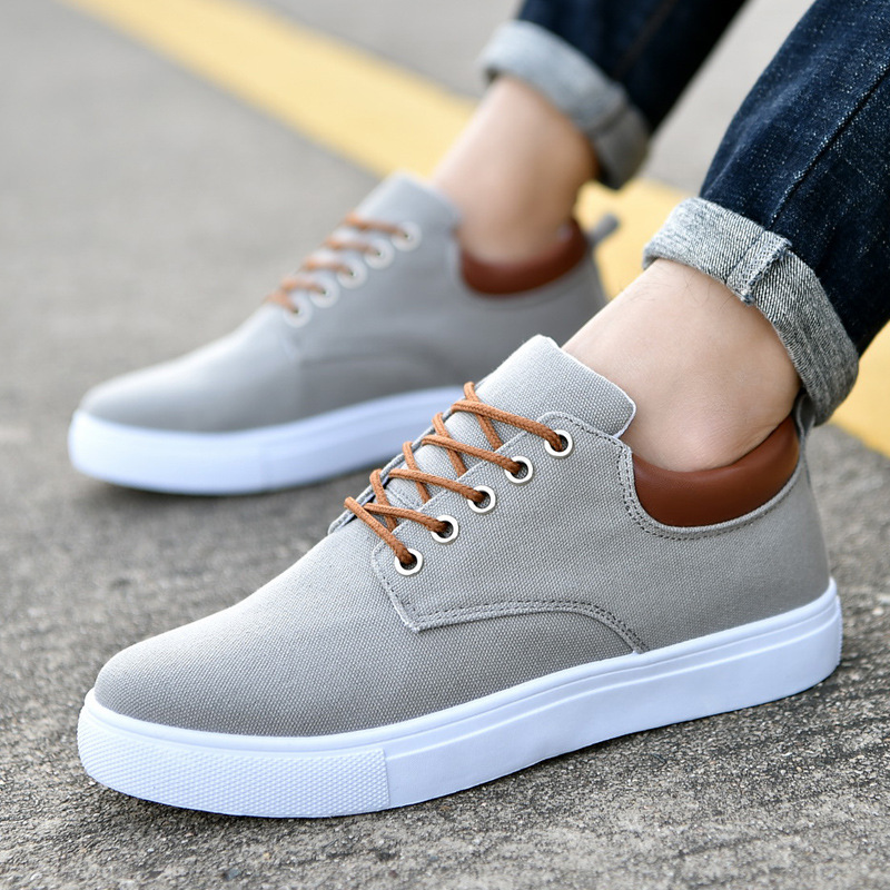 Comfortable Casual Canvas Shoes For Men Lace-Up Brand Fashion Flat Loafers Shoe