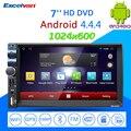 7 ''car radio player de mídia android4.4.4 dual-core touch screen bluetooth gps espelho link de áudio mp3 mp4 player 3g/fm/am/usb/sd
