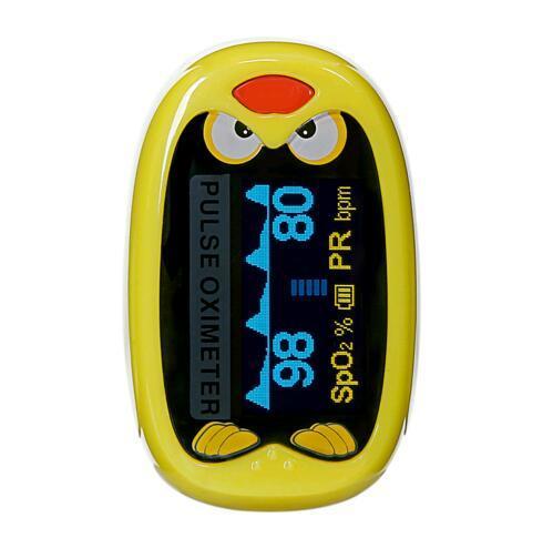 +Battery Children Kids Finger Pulse Oximeter for Pediatric Child oximetro Pulsoximeter SPO2 PR Cute Design for Chindren 1