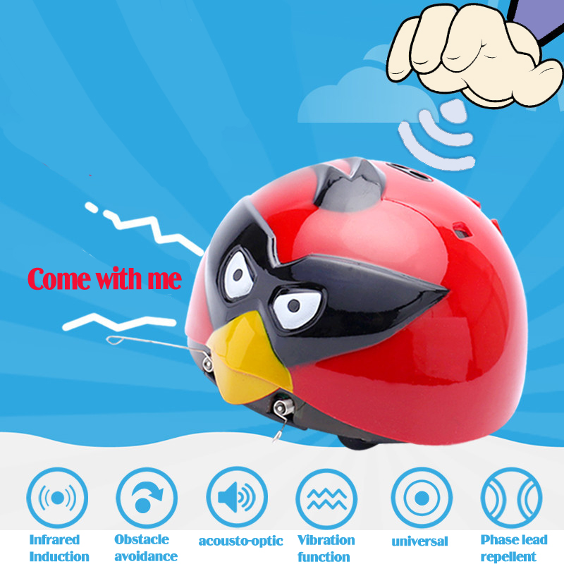 Super cute Infrared Induction Spanking worm bird toys brinquedos Kid's floor games Universal car simulation musical baby toys