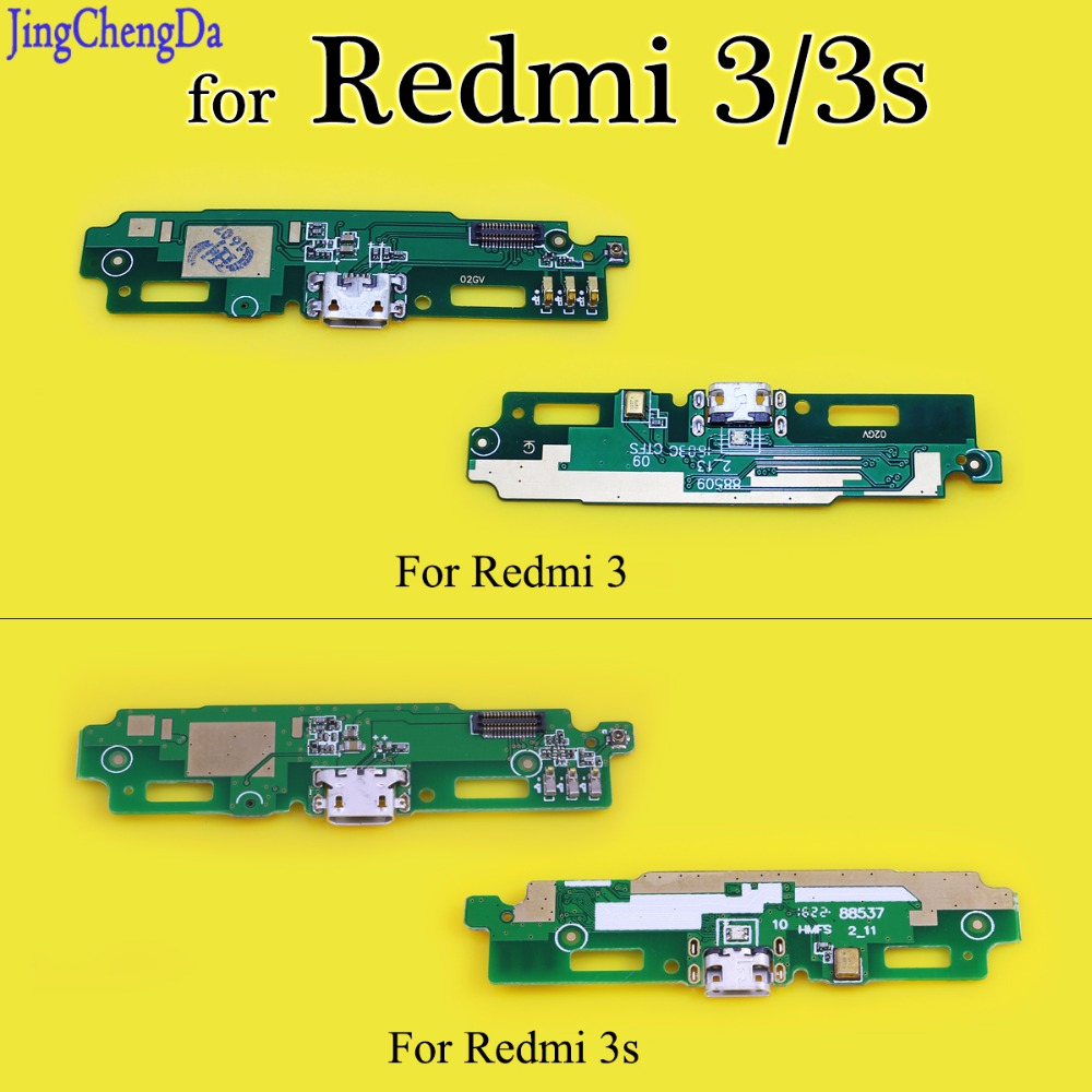 JCD USB Board For Xiaomi For Redmi 3 3S Dock Connector Micro Usb Plug Port Charge Board & Microphone Flex Cable Parts